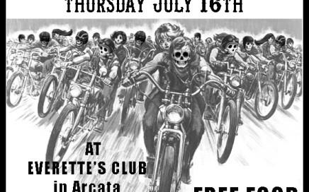M.O.B. of Humboldt CA Bike Nite Poster July 2015