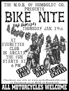 M.O.B. of Humboldt County Bike Nite January 2017